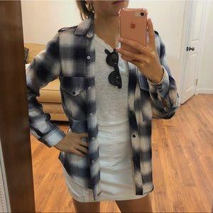 Zara oversized flannel